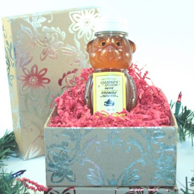 One 12 oz Honey Bear Christmas Gift