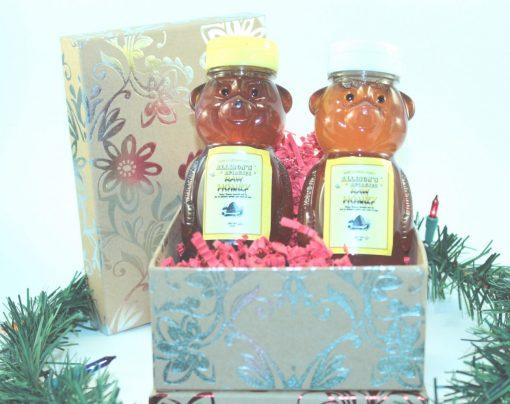 Two 12 oz Honey Bears Christmas Gift