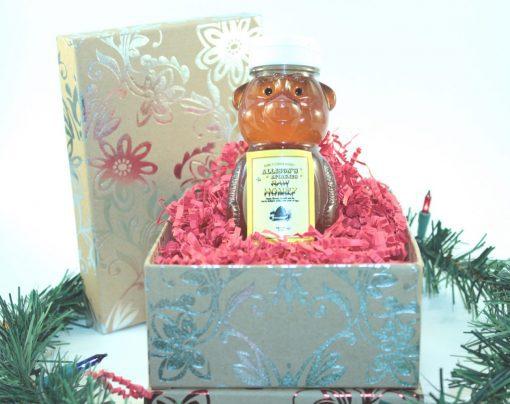 One 12 oz Honey Bear Christmas Gift