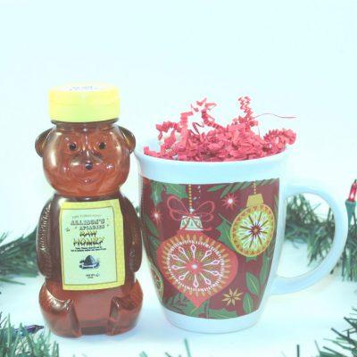 One 12 oz Honey Bear and Mug Christmas Gift