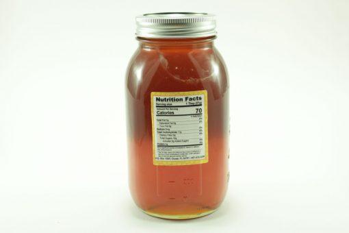 Florida Palmetto Honey - 48 oz - Back