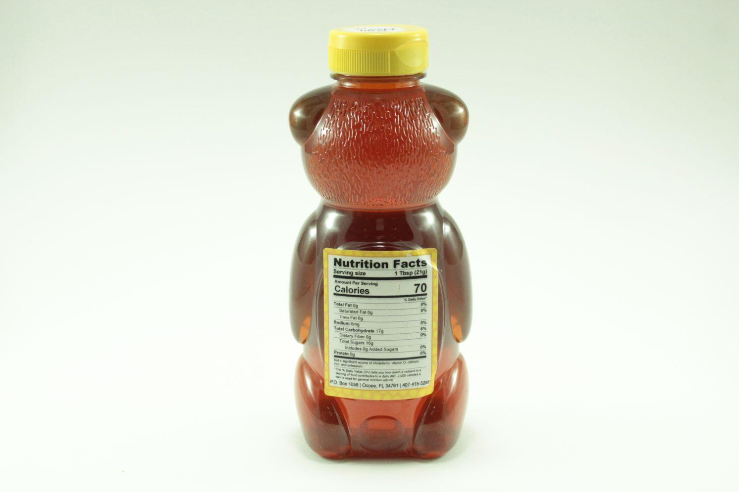 Florida Summer Wild Flower Honey - 24 oz - Back