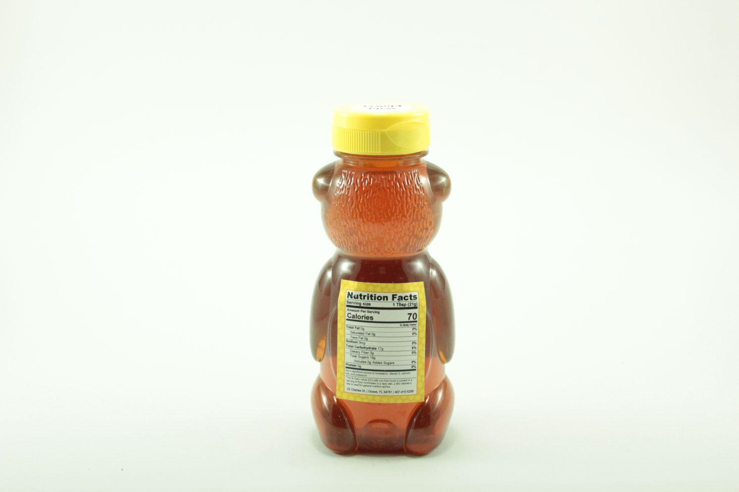Florida Summer Wild Flower Honey - 12 oz - Back
