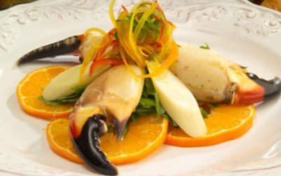 Allisons' Apiaries Honey Citrus Stone Crab Claws with Hearts of Palms Salad